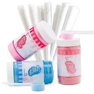 The Candery Cotton Candy Floss Sugar Kit –Raspberry Blue, Vanilla Pink and