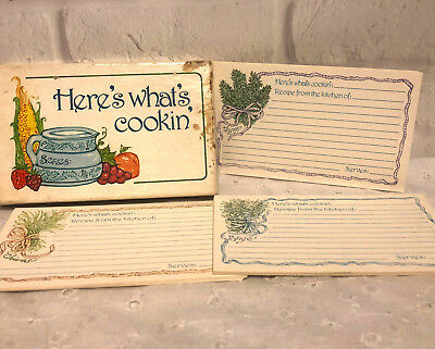 Vintage Current Recipe Cards Here's What's Cookin 30 Cards