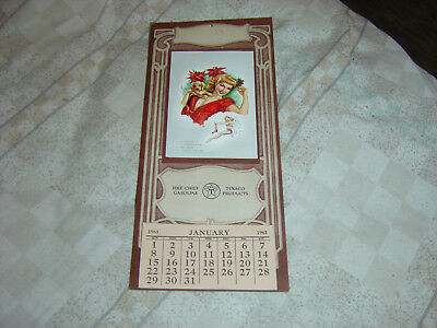 1961 Pin Up Calender-Texaco Gasoline-Gil With Puppy