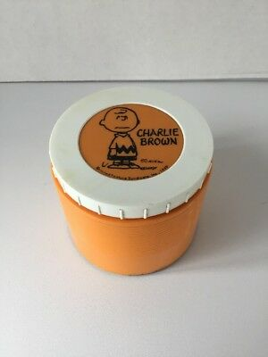 Vintage 1969 CHARLIE BROWN  Peanuts Lunchbox THERMOS brand  Insulated Jar #1155