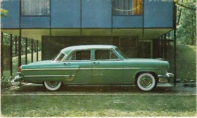 Two different 1954 Ford Lincoln Dealership Car Ad postcards original        y
