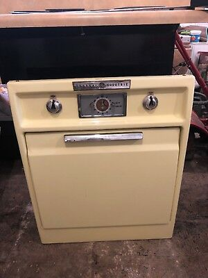 Antique Vintage Yellow 1950 S Ge General Electric Wall Oven Stove