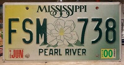 2000 Mississippi Pearl River County license plate tag NO RESERVE!!!! $0.99
