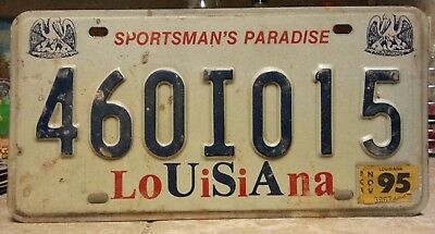 1995 Louisiana USA license plate tag NO RESERVE!!!! $0.99