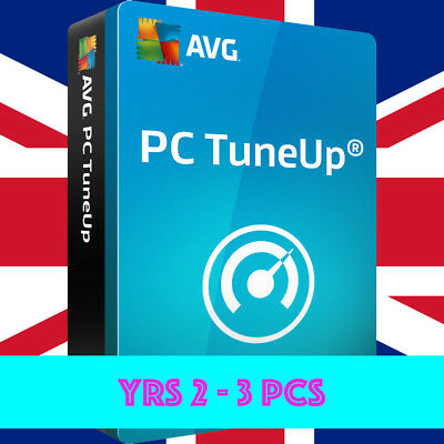 AVG PC TuneUp 2019, 3 PC Users, 2 Year Retail License - Global Key