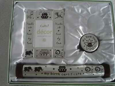Keepsake Memory Set Cudlie Accessories Birth Certificate, Tooth Box, Photo Frame