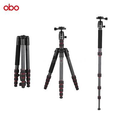 OBO Carbon Fiber Aluminium Tripod Monopod Ball Head for Canon Nikon DSLR Camera