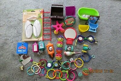 LOT 2 of Bird Parrot Cage Toys / Food Dishes