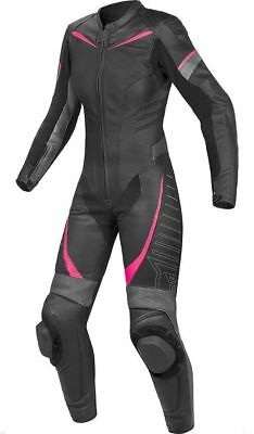 Women Motorcycle Leather Suit-1Piece Racing Suit-Ce Approved