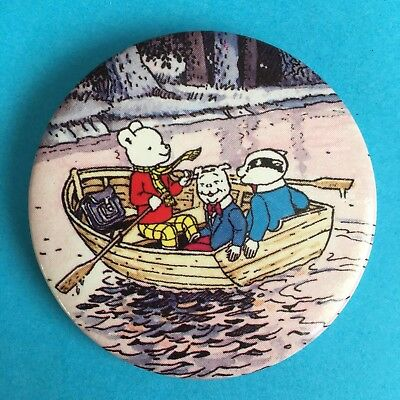 Daily Express Rupert Character With Friends In A Rowing Boat Pin Badge (seepics)