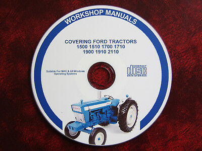 Ford 1500 1510 1700 1710 1900 1910 2110 Tractor Workshop Service Repair Manual