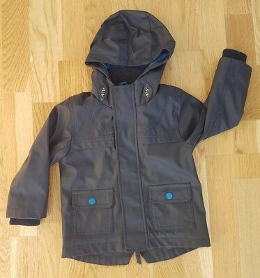 Marks and Spencer 18-24 months boy girl blue fisherman's coat waterproof hooded