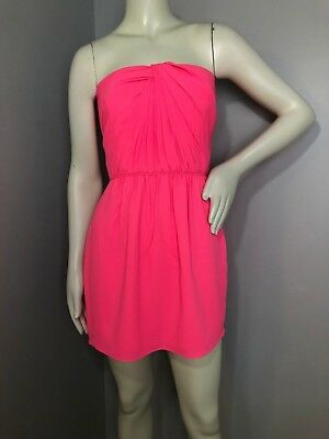 80e8f6031e648 SHOSHANNA WOMENS NEON Pink Strapless Mini Cocktail Dress Size 4 ...