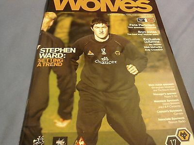 Wolves v West Bromwich Albion rare fa cup programme from 2007