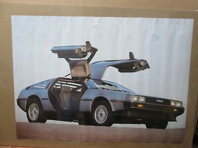 Vintage De Lorean DMC Model Poster 1983 Car Garage Inv#G3079
