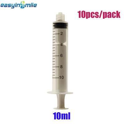 [USA]10 ml Dental Luer Lock Slip Tip Syringes Non-Sterile & Scale Disposable 10x