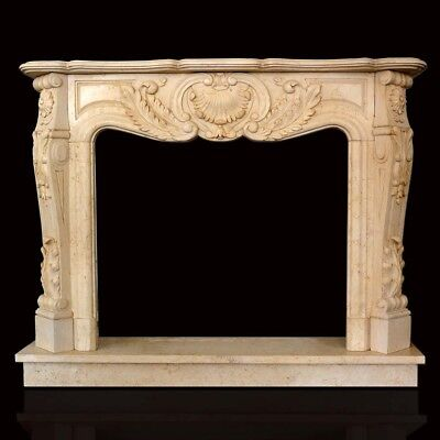 Fireplace Marble Yellow Silva Gold Frame Style Classic Yellow Marble Fireplace