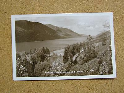 1900s Photo Postcard The Caledonian Canal & Loch Lochy,Scotland.