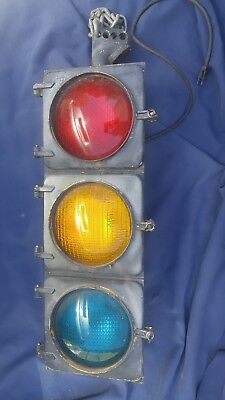 Authentic Traffic Signal Light Wired W/ Hanger Works Eagle Signal