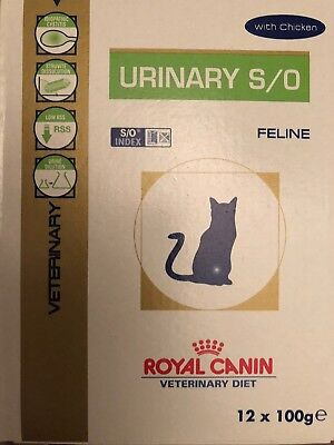 Royal Canin Veterinary Diet Urinary S/O pour chats Poulet 12 Sachets