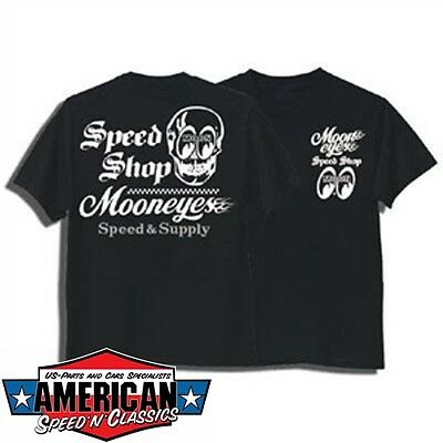 Mooneyes Speedshop Speed & Supply T-Shirt Gr. M Hot Rod Air Cooled Kustom Moon