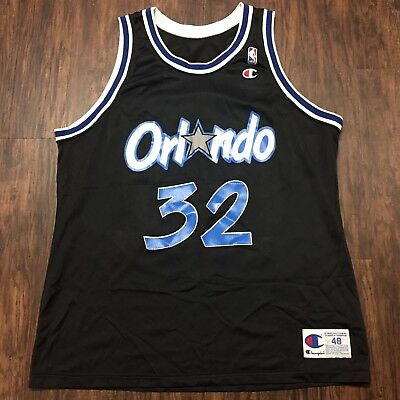 7a9ff8e36 VINTAGE AUTHENTIC SHAQUILLE O neal Orlando Magic Champion Jersey 48 ...