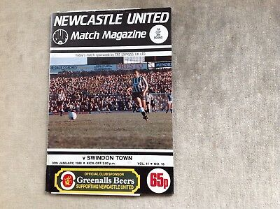 Newcastle United v Swindon Town (87/88) F A Cup