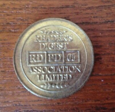 Readers Digest RD PD 65 Token - Nice Condition - 30mm Diameter