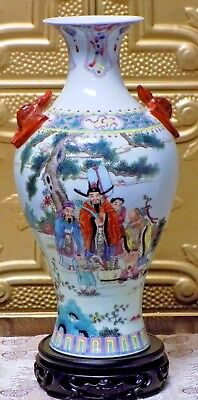 "Antique 14"" Chinese Porcelain  Vase Cloisonne Japanese Circa 1900 Very Fine"