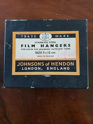 Vintage Film Hangers 9X12 Cm Johnson Of Hendon Made In England Stainless Steel