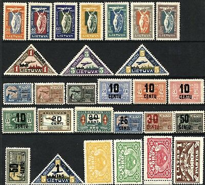 LITHUANIA LIETUVA AirMail SC# C8-C35 Stamps Postage Collection 1921-1924 MINT LH