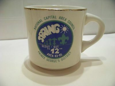 vintage Boy Scouts cup National Capital Area Council 83-85 Spring Scout Out BSA