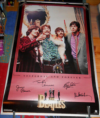 The Beatles -  Poster - Yesterday And Forever  (1995 Apple Corps Limited) Rare!