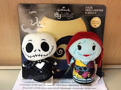 Jack Skellington & Sally Hallmark Itty Bittys The Nightmare Before Christmas New