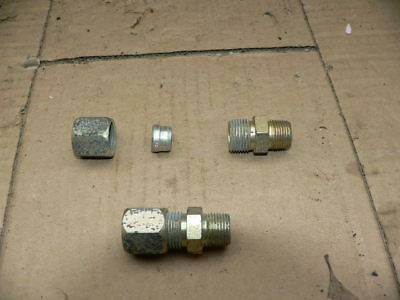 Hydraulic  Fittings   1/2 in.  Tube , Air & Oil lines , Compression fittings