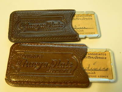 Rare Vintage 1940's-1950's Providence Charga-Plate Credit Card Lot of 2