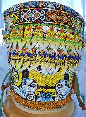 New Dayak Baby Carrier Basket With Beads Bells Shells Teeth