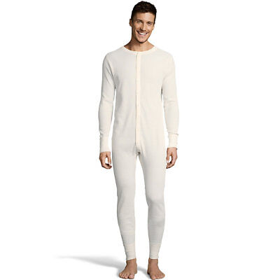 Hanes Men's Solid Waffle Knit Thermal Union Suit 125443