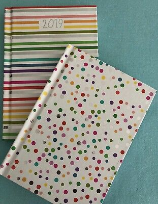 2019 A6 Diary  Week To View - Spots Or Stripes Design - Free Postage
