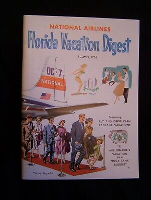 National Airlines~Florida Vacation Digest~Summer, 1956, Great Photo Advertising
