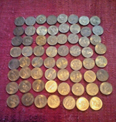 8 VGR Systems vintage Arcade tokens Good condition Peep Show - 64 in lot total