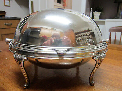 Old Silver Plate Antique Victorian Serving Tureen by W H & S Reg No.413132 c1900