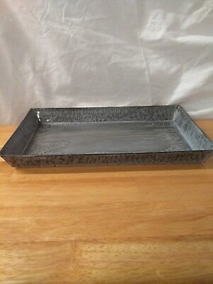 Antique Gray Graniteware Rectangle Tray/pan
