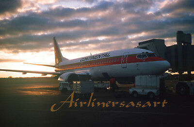 """Continental Airlines Boeing 737-300 at MIA in 1986 8""""x12"""" Color Print JS"""
