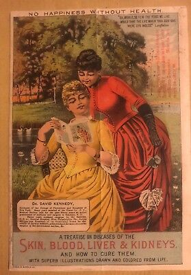 Rare 1890's Dr Kennedy's Favorite Remedy Catalog Lithograph