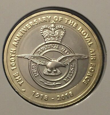 2018 Royal Mint BUNC Coin From Set  £2 Coin Royal Air Force On Card
