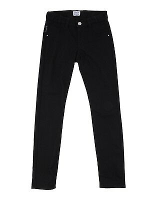 Armani Junior Girl Cotton Blend Black Jeggings Jean Trousers - 14 yrs (166 cm)
