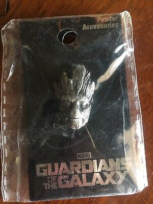 """GUARDIANS OF THE GALAXY """"GROOT"""" Head Pewter Lapel pin Marvel Comics NEW"""