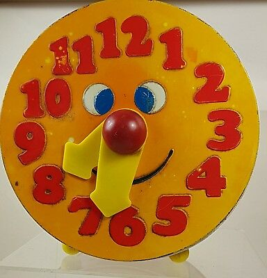 Vintage Crawfords Biscuit Tin Money Box Clock Face with Moveable Hands