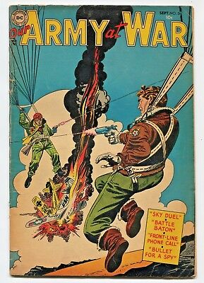 Our Army at War #26 (Sep 1954) G/VG 3.0, Chump Into a Champ! Sky Duel! ~ BLAM!